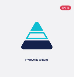 two color pyramid chart icon from analytics vector image
