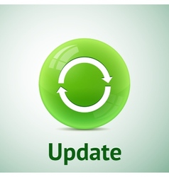 Update sign isolated vector image