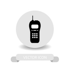 walkie icon vector image