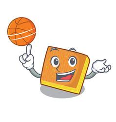With basketball kunafa ready served on cartoon vector