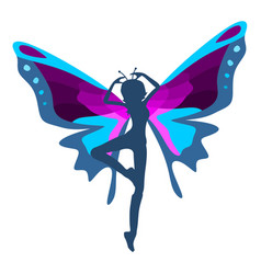 woman butterfly vector image