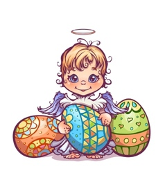 cute angel ant set Easter vector image vector image