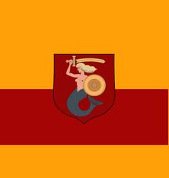 flag of warsaw poland vector image