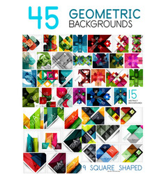 mega collection of geometric abstract background vector image