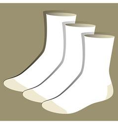 Socks template vector