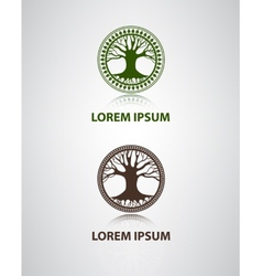 tree icon for company vector image