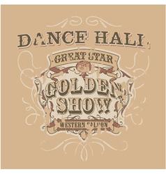 Dance saloon vector