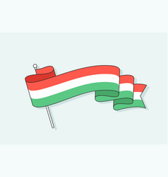 flag with three stripe vector image