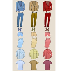 male clothing vector image vector image