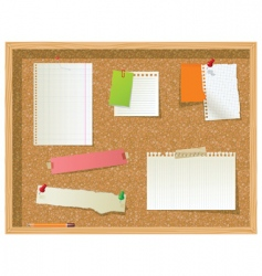 office noticeboard vector image