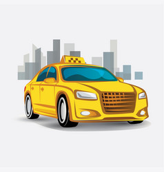 taxi icon stylized symbol vector image vector image