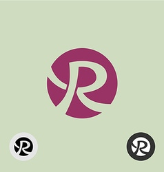 Letter R round logo vector image vector image
