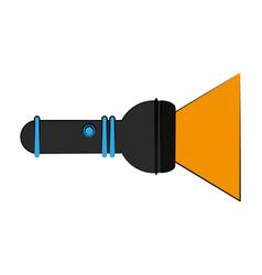 lit flashlight icon image vector image