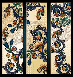 Paisley batik background Ethnic tribal cards vector image vector image
