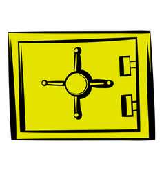 security safe icon icon cartoon vector image