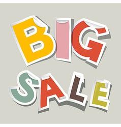 Big Sale Paper Stickers vector image vector image