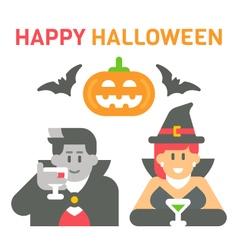 Flat design Halloween greeting vector image vector image