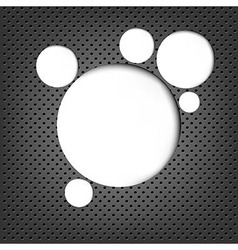 Grey Metal Background With Web Speech Bubble vector image