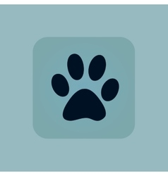 Pale blue paw icon vector image