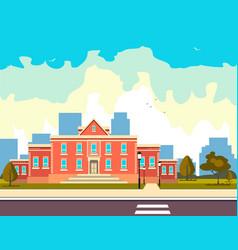 school building outside vector image
