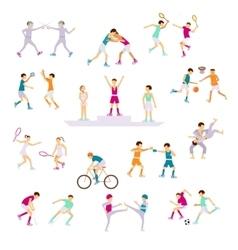 Set Sport people activities vector image vector image