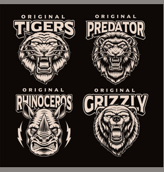 a set black and white badges different vector image
