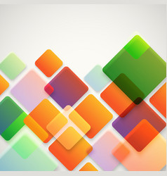 Abstract background different color squares vector