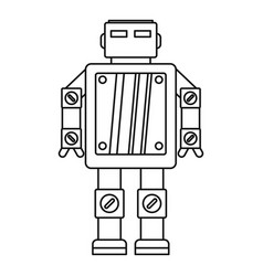 Artificial intelligence robot icon outline style vector