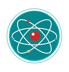 Atom molecule isolated icon vector