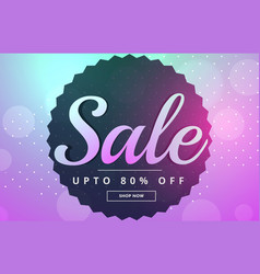 awesome sale banner poster design for marketing vector image vector image