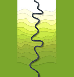 beautiful winding road on a mountain slope vector image