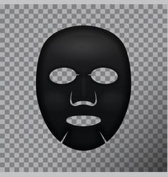 black facial mask cosmetics package design vector image