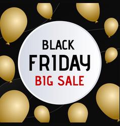 Black friday sale banner circle paper speech vector
