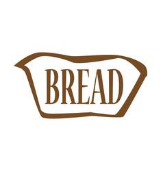 Bread outline icon vector