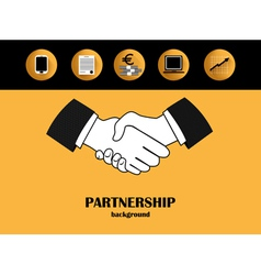Business partnership backgound vector