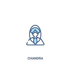 Chandra concept 2 colored icon simple line vector