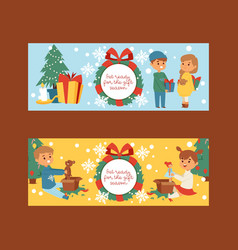 christmas 2019 happy new year greeting card vector image