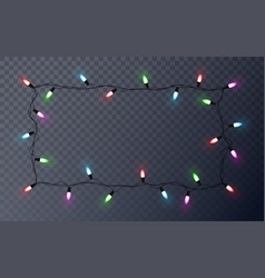 christmas light string isolated on transparent vector image