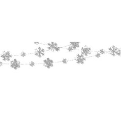 christmas or new year silver snowflake decoration vector image