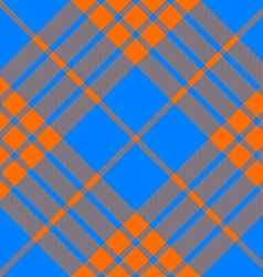 Clan tartan diagonal seamless pattern orange and vector