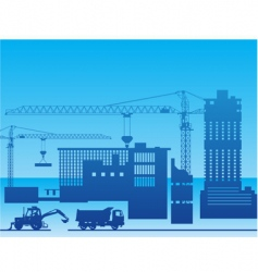 construction of a factory vector image vector image