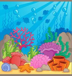 Coral reef theme image 3 vector