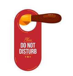 door tag on wooden handle vector image
