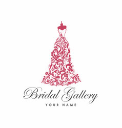 dress boutique bridal logo template vector image
