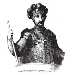 edward the black prince vintage vector image
