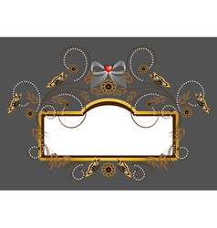 Elegant frame with heart vector