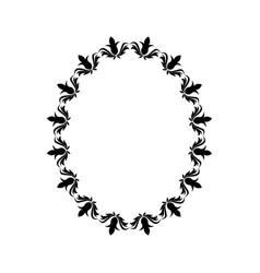 Floral ornament scrolls frame element vector
