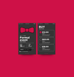 formal event with bow tie vector image