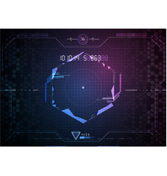 Futuristic game interface technology background vector