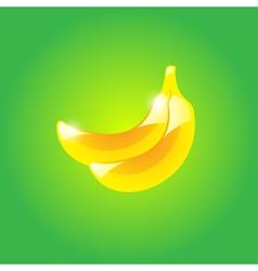 Glossy banana vector